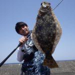 日本海のサーフでフラットフィッシュ/三隅 火力発電所波止(島根県浜田市)