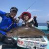 泳がせ釣りで大型カンパチ/慶良間沖(沖縄県)