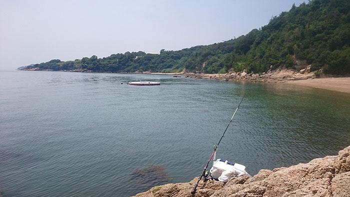 岡山前島の浜