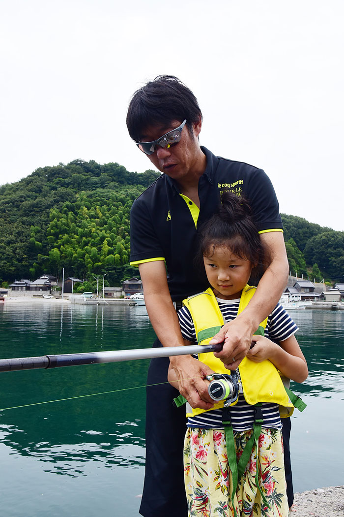 釣り方教わる