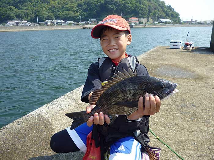 大入島 チヌ 子供 釣り