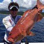 沖縄の船から泳がせ釣りでアカジン/沖縄北部(沖縄県国頭村)