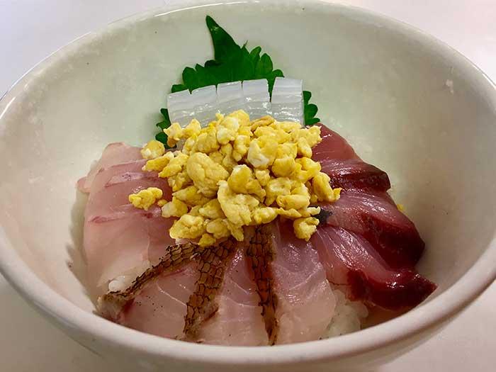 美保関 ジギング 料理 海鮮丼