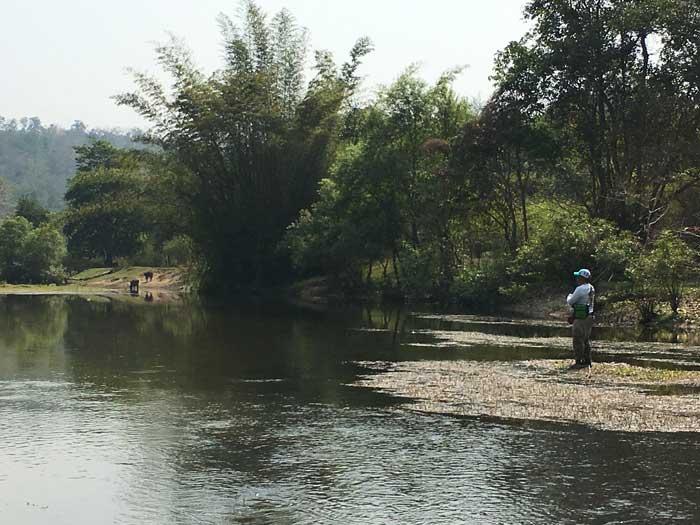 タイ カンチャナブリ クウェー川 釣り場