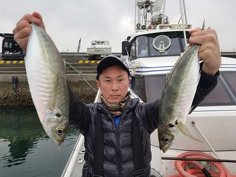 佐賀関沖のアジ釣り