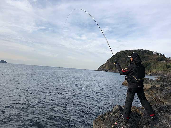 徳山湾 竿曲がり チヌ釣り