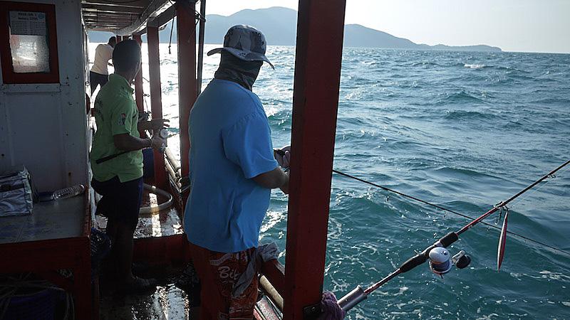 タイランド湾 釣り人