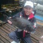 かかり釣りで56cmの大型チヌ/北灘湾(愛媛県宇和島市津島)