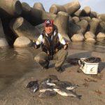 離岸テトラでチヌ11匹の釣果/皆生温泉離岸テトラ(米子市)