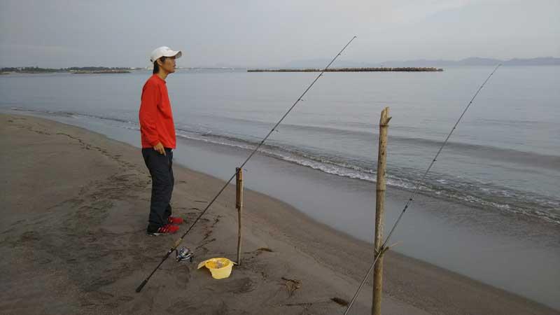 淀江海岸 投げ釣り キス