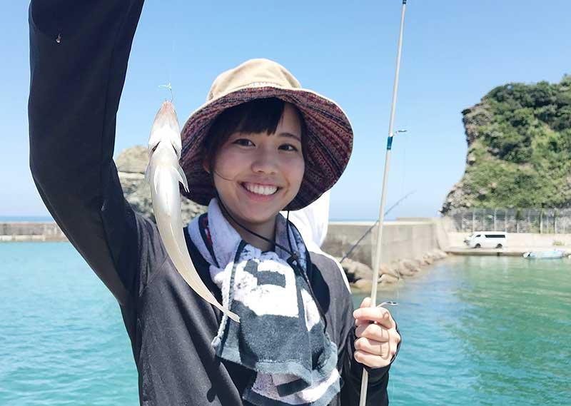 ちょい投げ キス 浜田市 釣りガール3