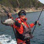 フカセ釣りで乗っ込みチヌをキャッチ/木岐 キツツキ(美波町)