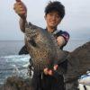 古満目の磯で底物釣り/古満目 シオフキの大バエ(高知県大月町)