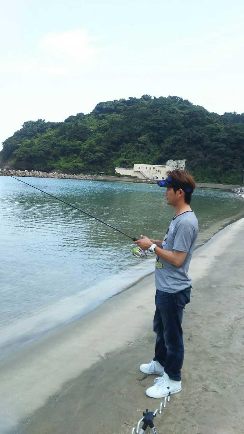 野波海岸でキス釣り