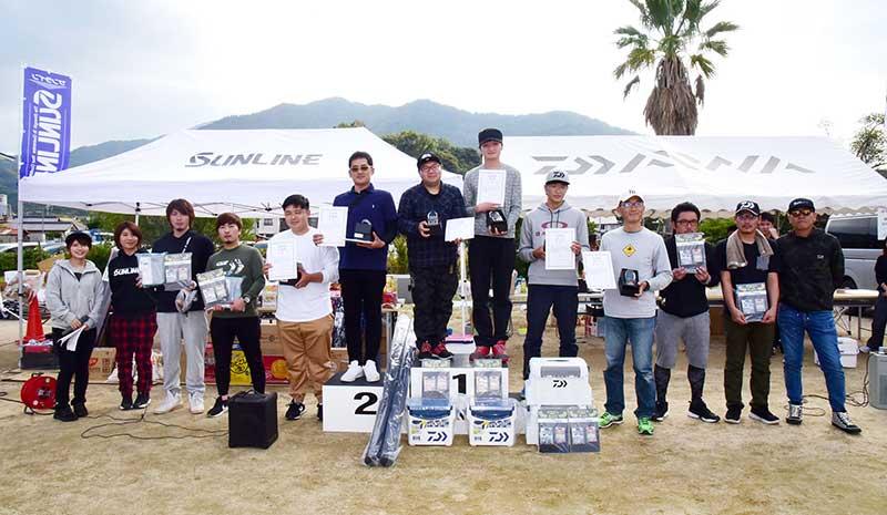 ダイワ・サンライン エギングフェスティバル2019上位入賞者