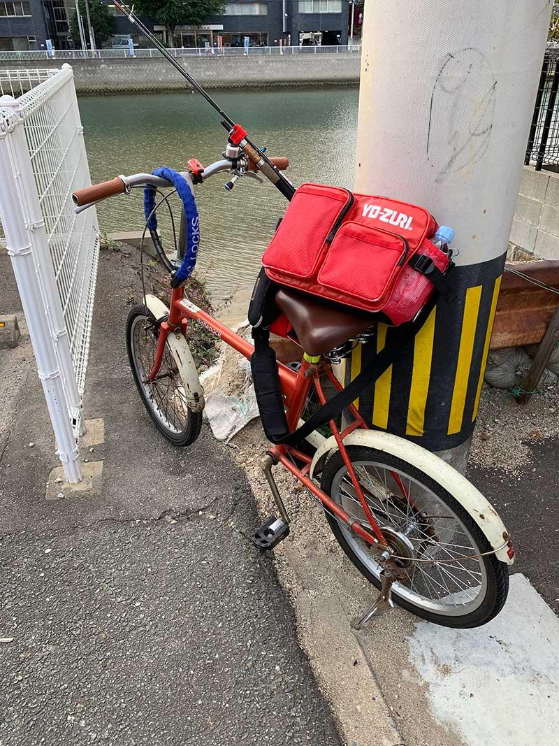 自転車で釣行