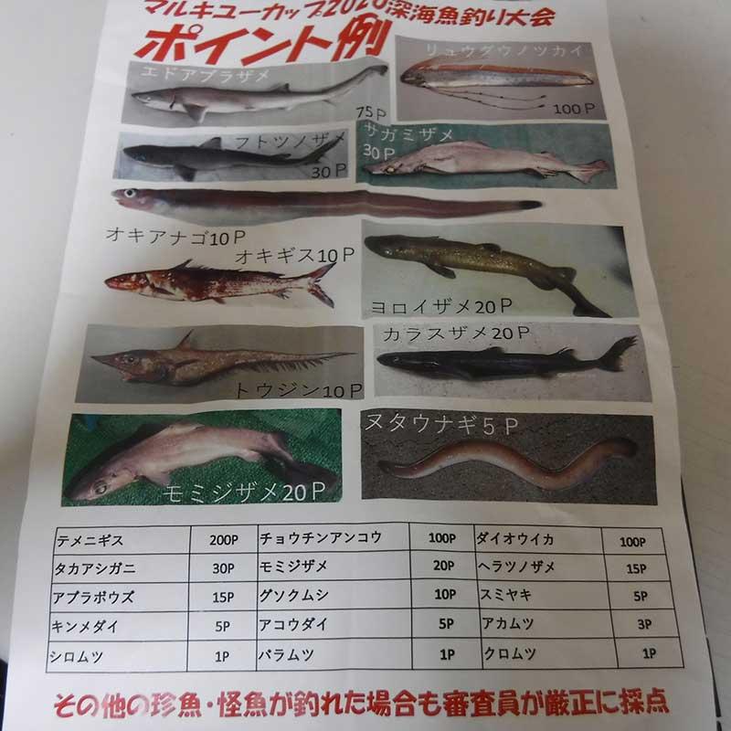 マルキユーカップ深海魚釣り大会