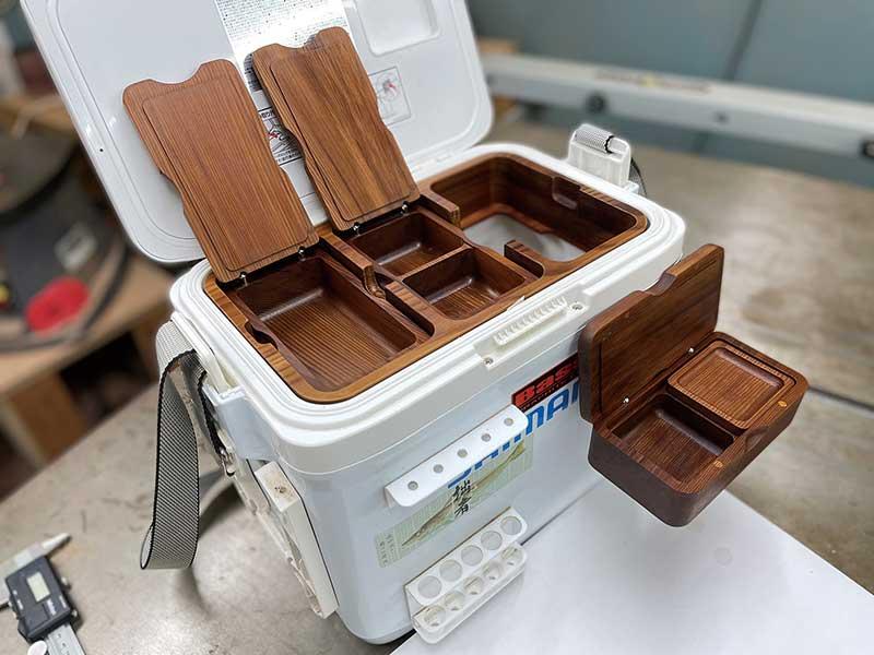 木製餌箱 クーラーセット