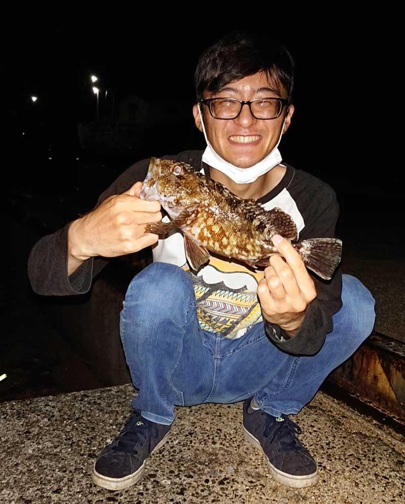 周防大島 釣れたカサゴ